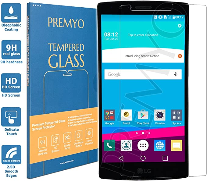 PREMYO Cristal Templado Protector de Pantalla Compatible con LG G4 ...