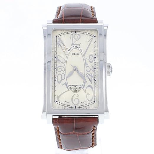 Cuervo Y Sobrinos A1012 - Reloj para hombres, correa de cuero color marrón: Amazon.es: Relojes