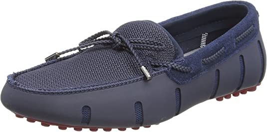 TALLA 40 EU. SWIMS Braided Lace Lux Loafer Driver, Mocasines para Hombre
