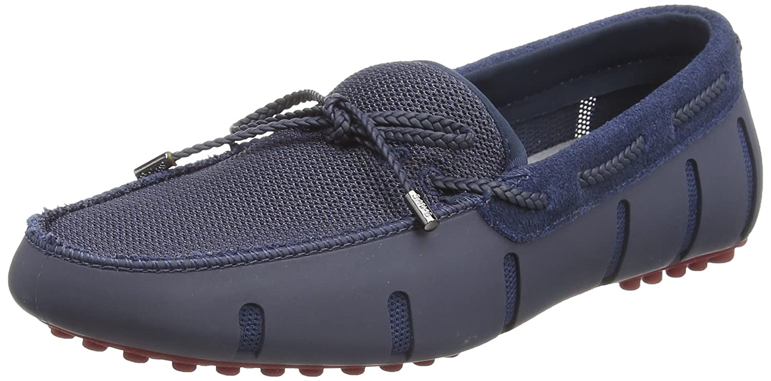 TALLA 43 EU. Swims Braided Lace Lux Loafer Driver, Mocasines para Hombre