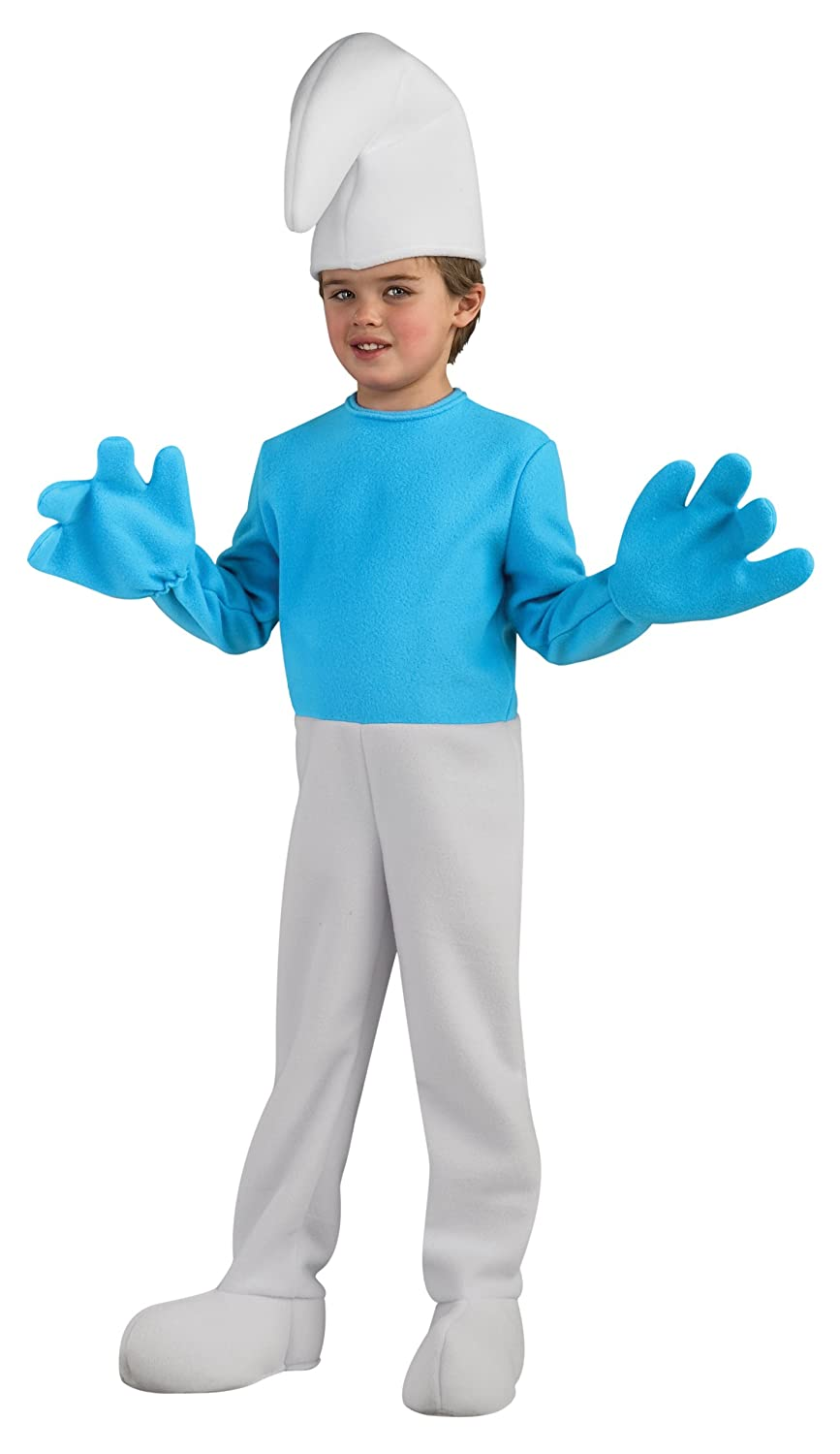 Amazon.com: The Smurfs Movie Deluxe Child's Costume, Smurf Costume ...