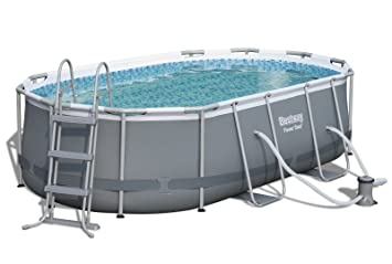 Bestway Power Steel Oval Pool Set 424x250x100cm Ovaler ...