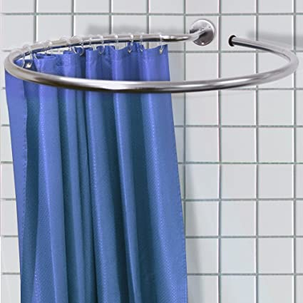 Amazon.com: LOOP - Stainless Steel Circular Shower Rail and Curtain ...