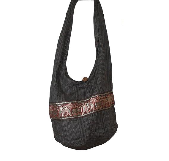fc13ed91c8d4 Tonka Cotton Gold Elephant Hippie Boho Hobo Bag Crossbody bags Shoulder  Bags Messenger Beach Bag Purses