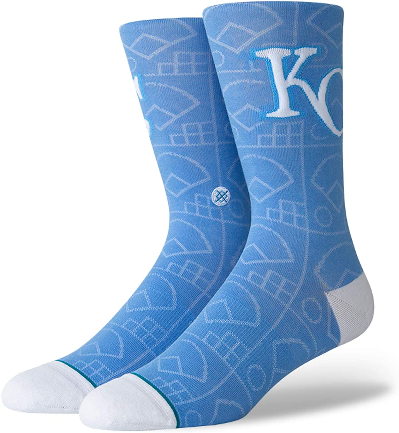 Stance Scorebook MLB Team Baseball Socks Royals, Large