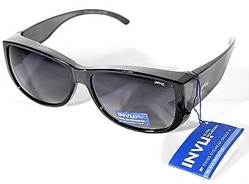 Gafas de sol 100% UV Block suncover INVU y 2400 a Gris lentes polarizadas Sunglasses