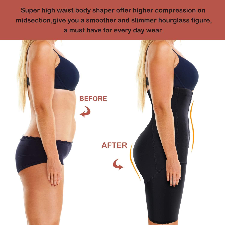 Nebility Women Waist Trainer Shapewear Zipper & Hook Body Shaper Shorts High Waist Butt Lifter Comfort Thigh Slimmer at  Women's Clothing store