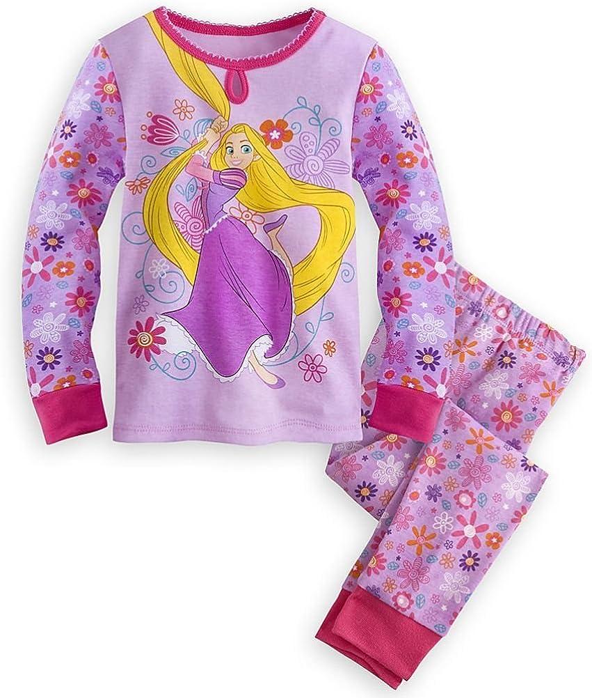 Disney Elena Of Avalor 4 PC Long Sleeve Tight Fit Cotton Pajama Set Girl Size 6