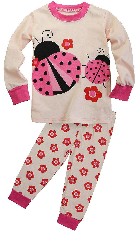 FANCYINN Little Girls Deer Pajamas Set Christmas Cotton Pjs Sleepwear 2 to 7 Years e_WS_7017_G_160_us