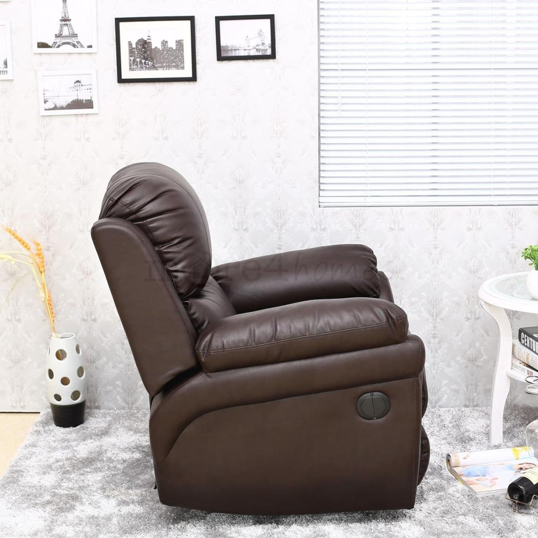 MADISON ELECTRIC LEATHER AUTOMATIC RECLINER ARMCHAIR SOFA HOME LOUNGE CHAIR (Brown) Amazon.co.uk Kitchen u0026 Home & MADISON ELECTRIC LEATHER AUTOMATIC RECLINER ARMCHAIR SOFA HOME ... islam-shia.org
