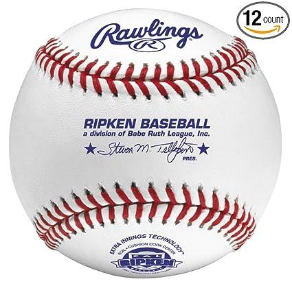 Rawlings Raised Seam Tournament Grade Cal Ripken Baseballs, 12 Count, RCAL