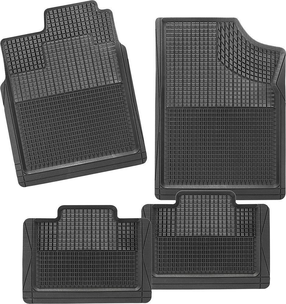 Blanco CarFashion 236311 Juego de alfombrillas 4/piezas
