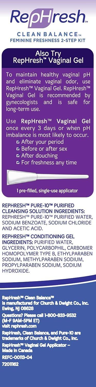 RepHresh Clean Balance Feminine Freshness Kit (Part 1 Cleans: 4 5oz Bottle