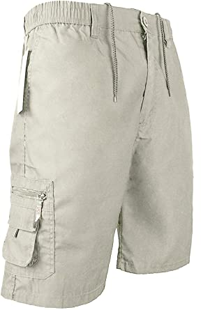 d50d3ffea6 D PROJECT Mens Cargo Summer Shorts 100% Cotton Plain Combat Pants Sizes M L  XL XXL