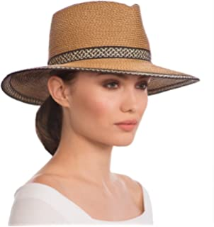 38ff8b4430219 Eric Javits Luxury Fashion Designer Women s Headwear Hat - Georgia -  Natural Black Mix