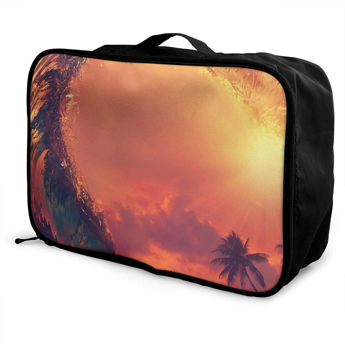 Lightweight Large Capacity Portable Luggage Bag Dusk Surfing Travel Duffel Bag Backpack