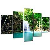 Visario Images Sur Toile 160 Cm Nr 5520 Waterfall Pret A Accrocher, Marque Original