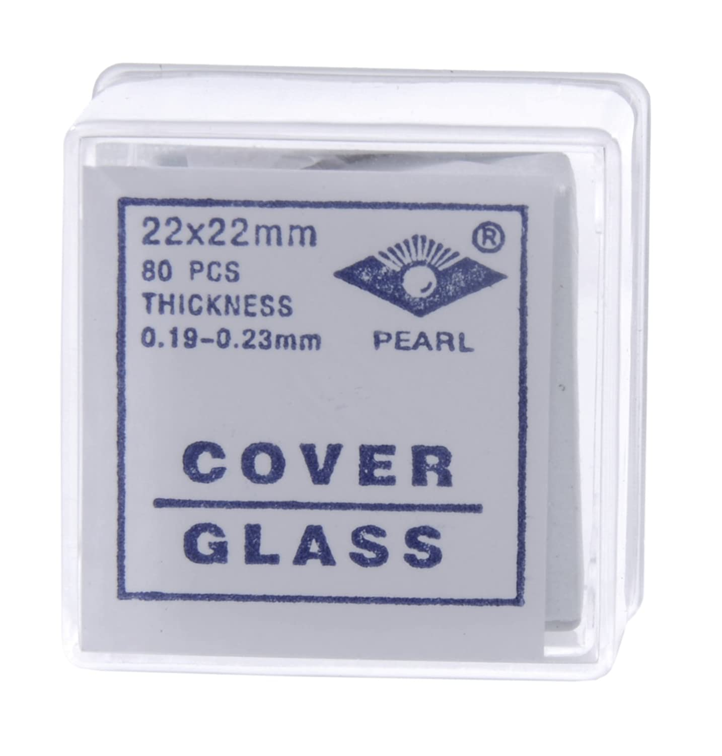 American Educational Glass Microscope Cover Slip, 22mm Length, 22mm Width, 2 Thickness (Bundle of 800) 7-1305-26-A