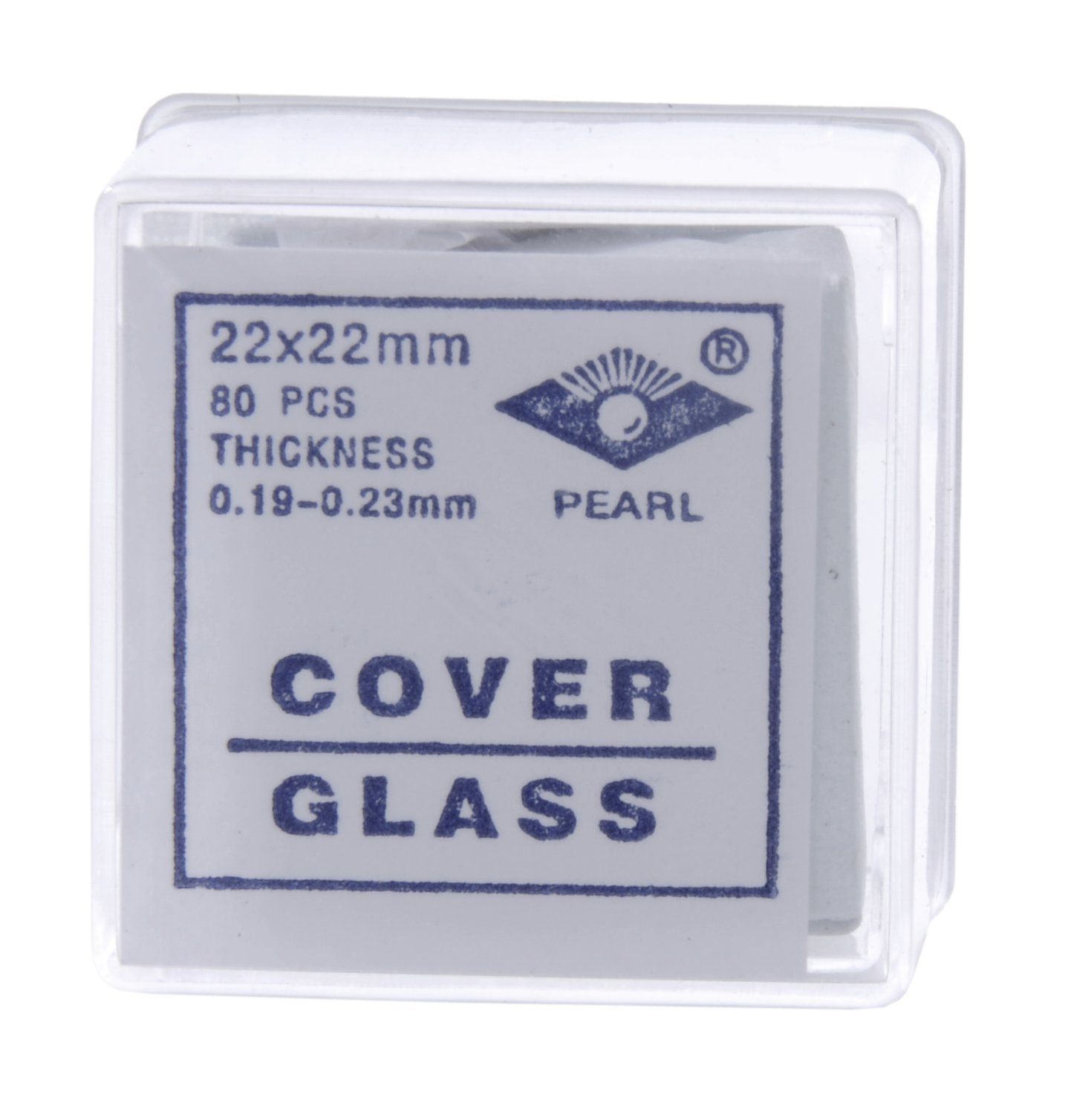 American Educational Glass Microscope Cover Slip, 22mm Length, 22mm Width, 2 Thickness (Bundle of 800)