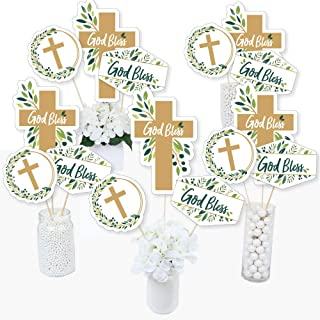 product image for Elegant Cross - Religious Party Centerpiece Sticks - Table Toppers - Set of 15