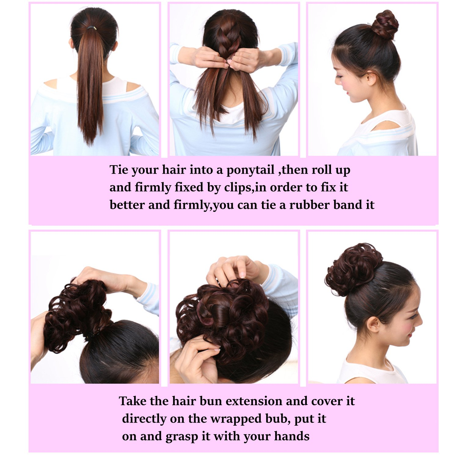 Amazon Hair Bun Extensions Wavy Curly Messy Hair Extensions