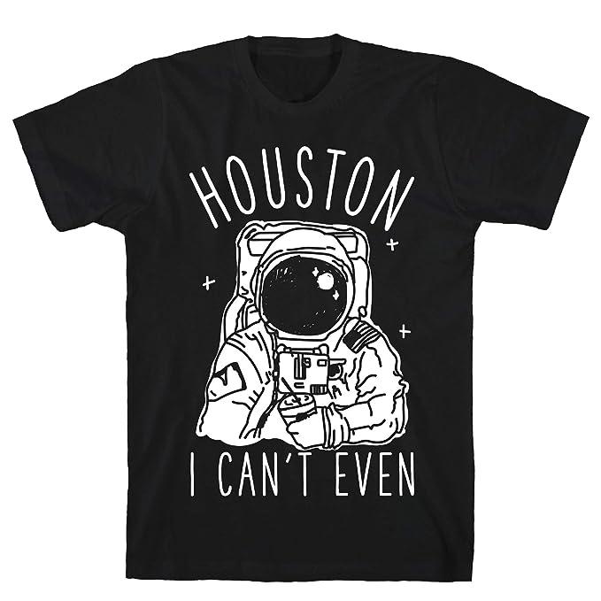dac83030 Amazon.com: LookHUMAN Houston I Can't Even Black Men's Cotton Tee ...
