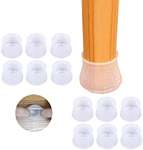 36 PCS Furniture Silicone Protection Cover|Round&Square Chair Leg Floor Protectors|Elastic Silicone Chair Leg Caps with Anti-Slip Bottom| Prevent Scratches and Noise Without Leaving Traces