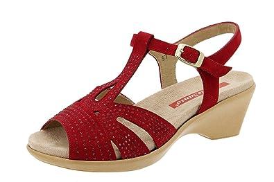 Cómodo Sandalia Piel 4863 Calzado Piesanto Confort Plantilla Zapato Extraíble Mujer Ancho de Hwqg7xxZv