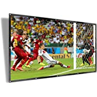 UTSLIVE 100 Inches 16:9 Simple Projector Screen Polyester Portable Foldable Wall Mounted Cinema Front and Rear Projection Screen For Home Theater Outdoor Office Classroom Movie