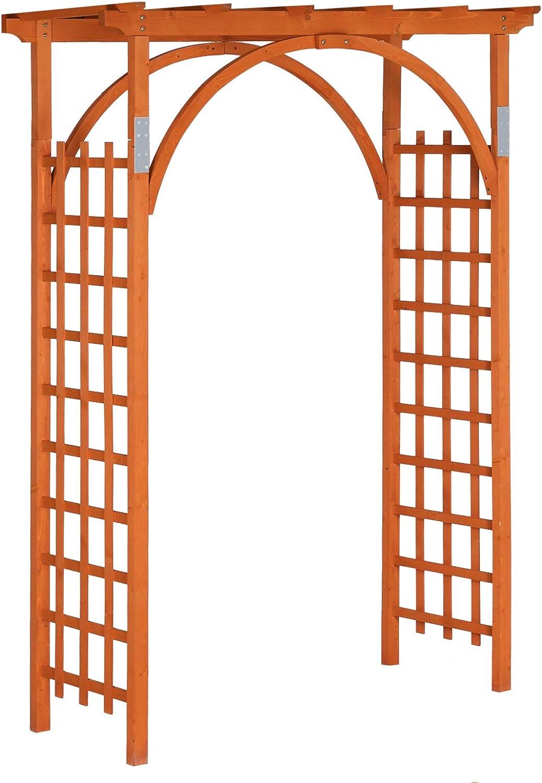 VINGLI 85in Wooden Garden Arbor,Wedding Arch for Ceremony, Wood Garden Trellis for Plant Climbing, Pergola for Garden Backyard,Lawn