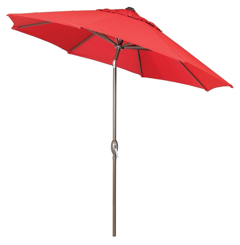 Amazon.com : Generic 9ft Red Sunshade Umbrella Metal Pole Outdoor Garden  Yard Patio Beach Market Cafe 9u0027 : Garden U0026 Outdoor