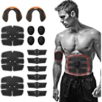 Lixada Spierstimulator 15 stuks EMS spierstimulator trainingsuitrusting heuptrainer set fitnessapparaten fit full-body