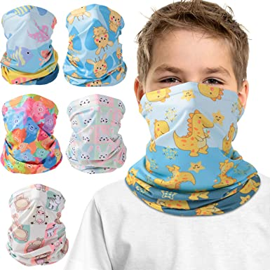 Kids Neck Gaiter Face Covering for Kids Face Cover Bandana Summer Sport Outdoor