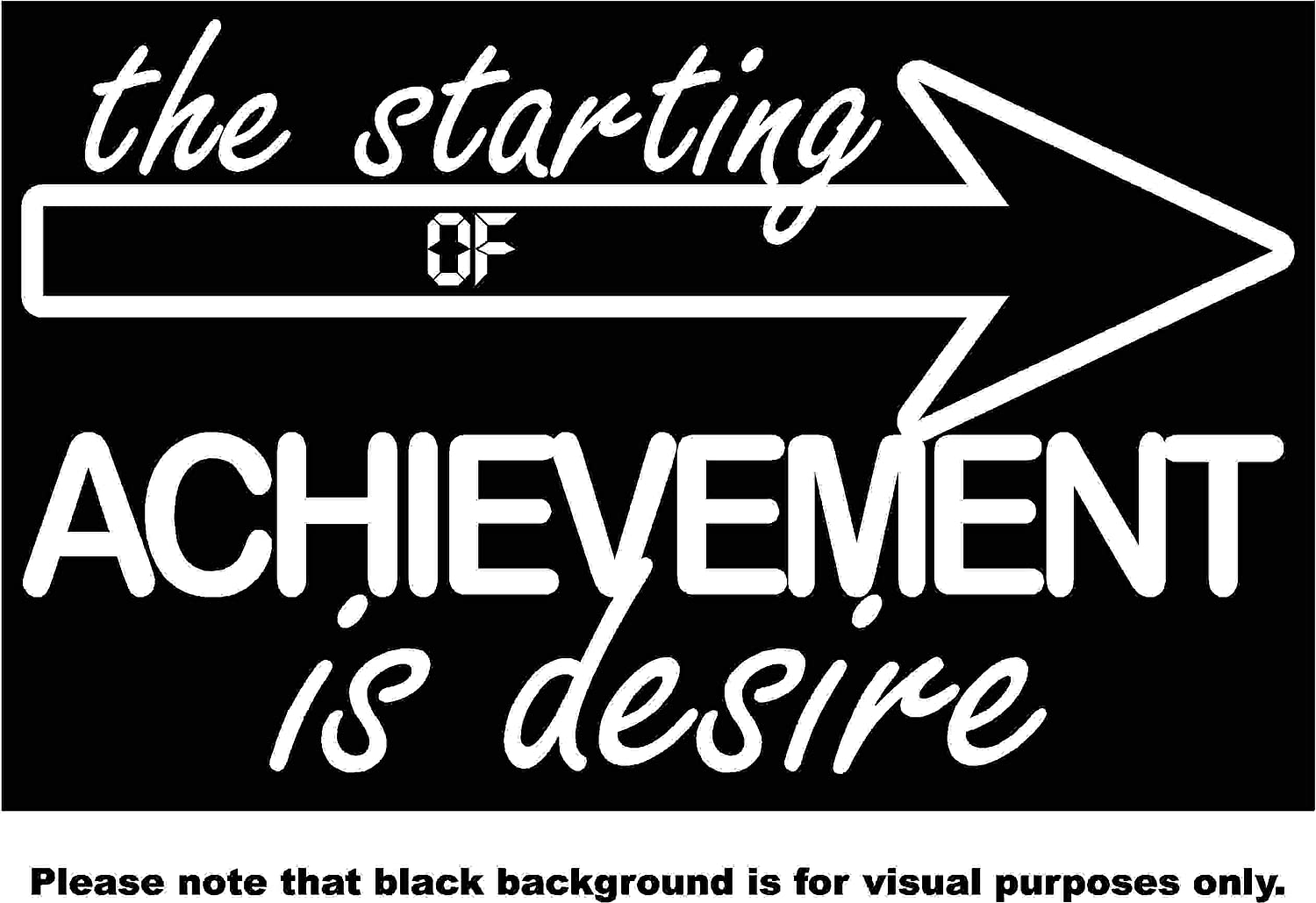 The Starting Point of Achievement is Desire Choose Color V and T Gifts