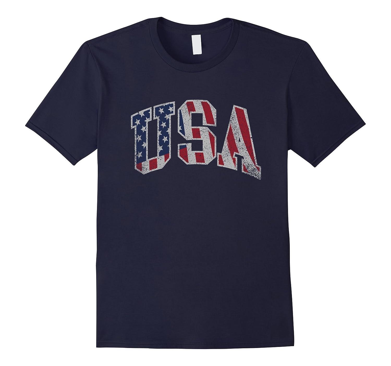 Vintage USA Shirt American Flag Patriot 4th of July Clothing-PL