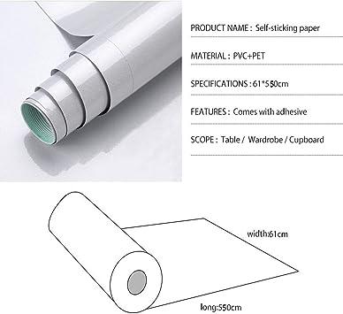 STICKY DOS PLASTIQUE GRIS autocollante papier 40X300cm Peel et Bâton Papier Peint
