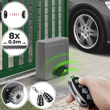 Motorisation pour Portail Coulissant Moteur des Portes Coulissantes avec T/él/écommande et Cl/é Portail Electrique Moteur