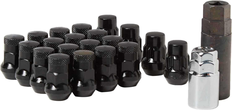 12 x 1.50 Wheelmate 32926BP Muteki SR35 Close End Lug Nut with Lock Set Black 35mm