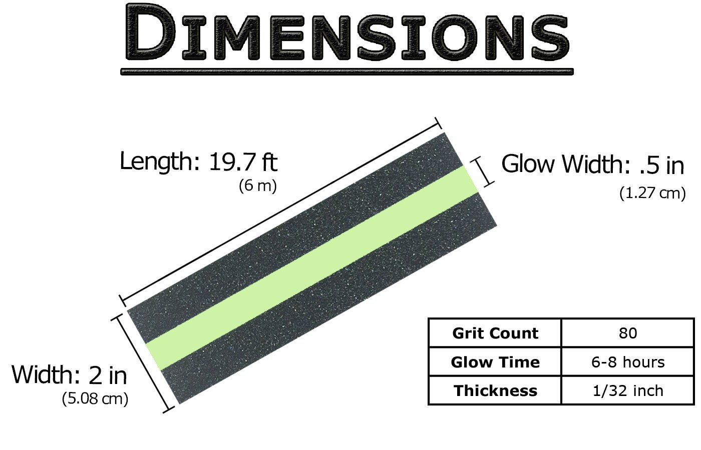 Anti Slip Tape with Glow in The Dark Safety Strip - 1 Roll 19.7 ft x 2 in, 80 Grit Non-Slip High Traction Abrasive, Perfect Grip for Stairs & Steps, Indoor & Outdoor Use, Easy Installation by nDream (Image #3)