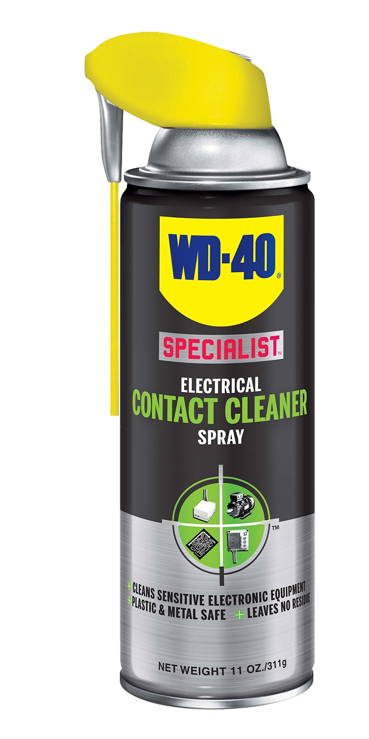 WD-40 Specialist Electrical Contact Cleaner Spray - Electronic & Electrical Equipment Cleaner. 11 oz. (Pack of 6)