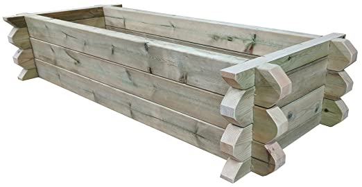 2 m x 5 m – recaudado crecer cama frontera hechas a mano de ...