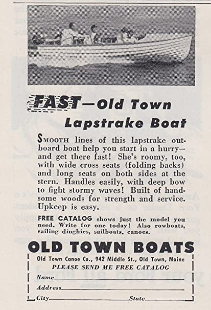Amazon 1953 Old Town Boats Lapstrake Boat Old Town Boats