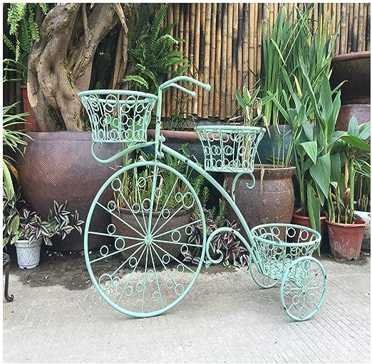 Jardín Hierro Forjado Bicicleta Flor Estante Decoración De La ...