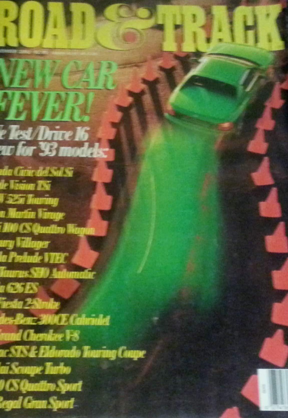 Road & Track Magazine, November, 1992 (Vol  44, No  3