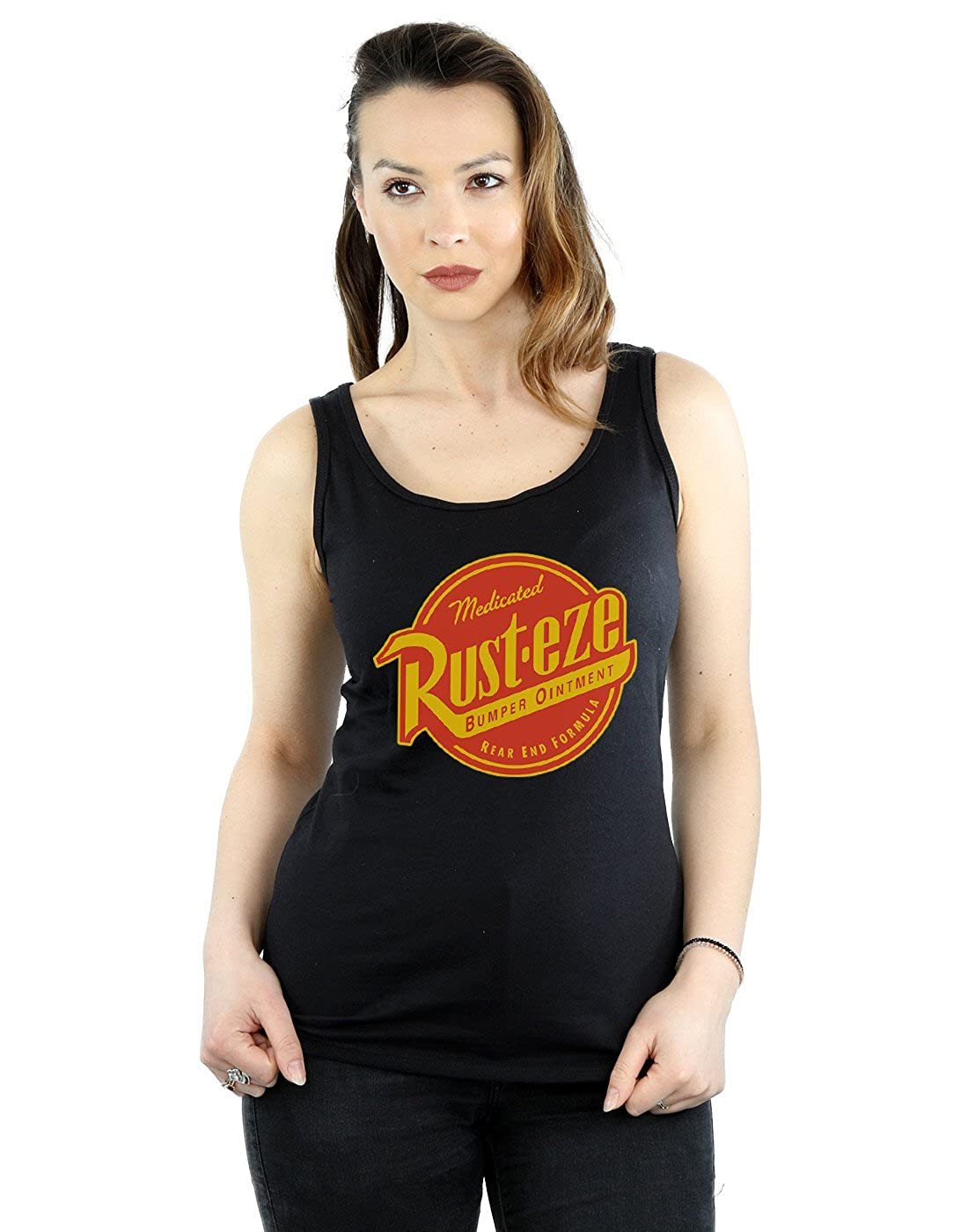 Disney Women's Cars Rust-Eze Logo Tank Top Absolute Cult