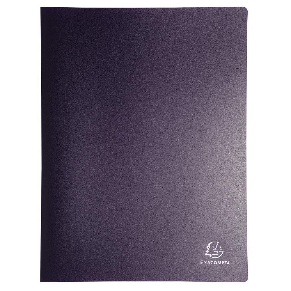 blickdicht, DIN A4 Exacompta 8840E Sichtmappe aus flexiblem PP 500/µ, mit 40 H/üllen 80 Ansichten 1 St/ück zuf/ällige
