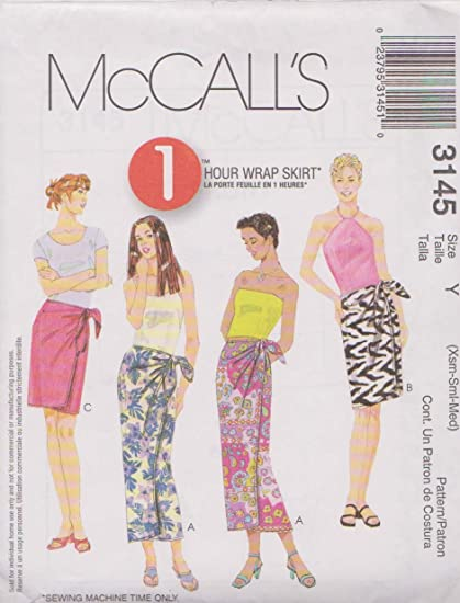 Amazon Misses Wrap Skirt In Three Lengths Mccalls Sewing