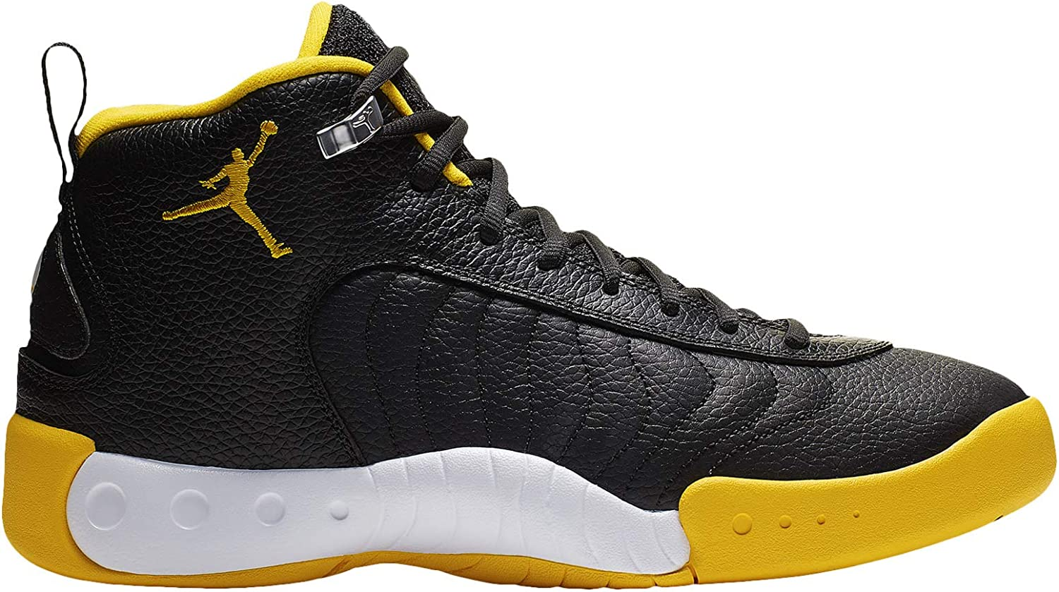 Nike Men's Jordan Jumpman Pro 黒/University ゴールド/白い Leather Basketball Shoes 8.5 M US