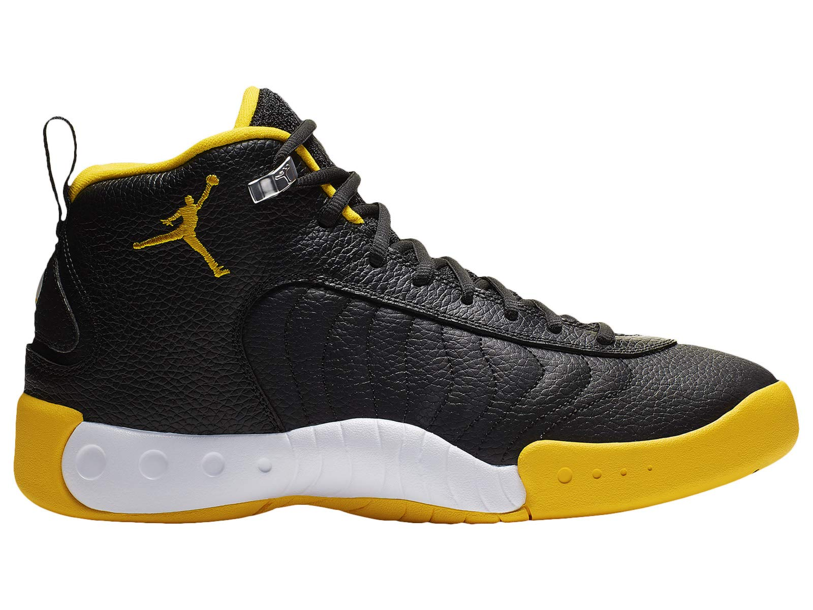 Nike Men's Jordan Jumpman Pro Black/University Gold/White Leather Basketball Shoes 12 M US by Nike