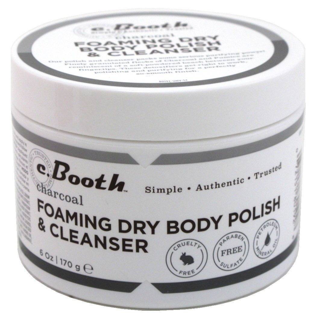 c.Booth Charcoal Foaming Dry Body Polish and Cleanser, 170 Grams 80192
